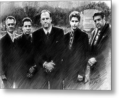 Sopranos James Gandolfini Metal Print by Viola El