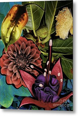 Sorrellism Collage 1 Metal Print by Susan Sorrell