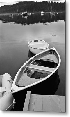 Sorrento Harbor Boats Metal Print by Bill Barber