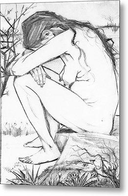 Sorrow After Vincent Van Gogh  Metal Print by Tracey Harrington-Simpson