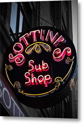Metal Print featuring the photograph Sottini's Sub Shop by James Howe