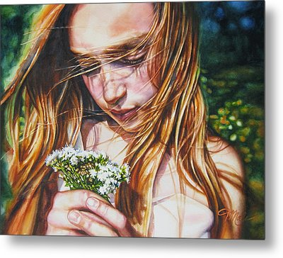 Soul Blossoms Metal Print by Tracy Male