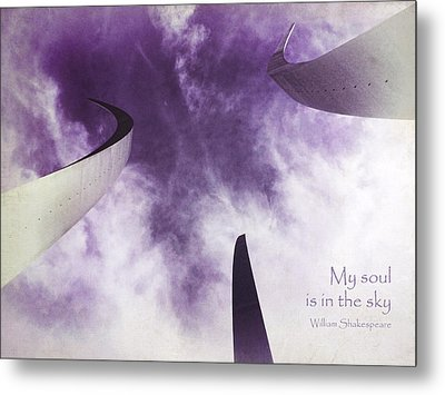 Soul In The Sky - Us Air Force Memorial Metal Print