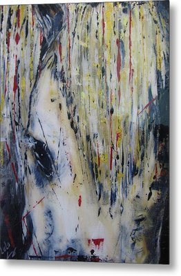 Metal Print featuring the painting Soul Mare by Lucy Matta