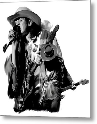 Soul To Soul  Stevie Ray Vaughan Metal Print by Iconic Images Art Gallery David Pucciarelli