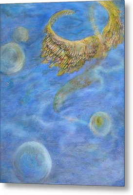 Soul's Flight In The Ocean Of Time And Space Metal Print by Jacquelyn Roberts