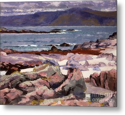 Sound Of Iona  The Burg From The North Shore Metal Print by Francis Campbell Boileau Cadell