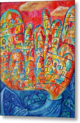 Sound Of Shofar Metal Print by Leon Zernitsky