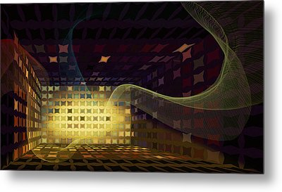 Metal Print featuring the digital art Sound Vent by Constance Krejci