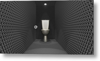 Soundproof Toilet Cubicle Metal Print