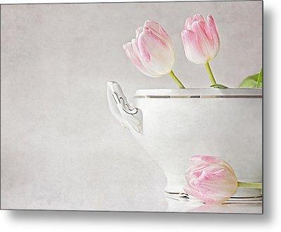 Soup Of Tulips Metal Print by Claudia Moeckel