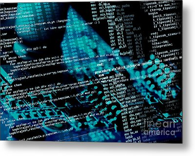 Source Code Metal Print by Peter Gudella
