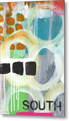South- Abstract Expressionist Art Metal Print by Linda Woods