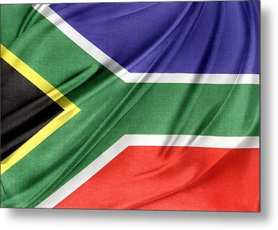 South African Flag  Metal Print by Les Cunliffe