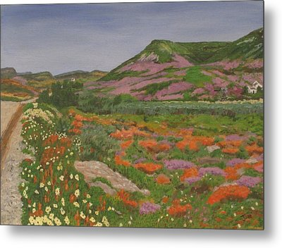 Metal Print featuring the painting South African Grasslands by Hilda and Jose Garrancho