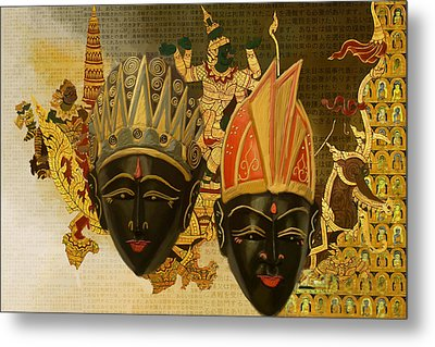 South Asian Art Metal Print by Corporate Art Task Force