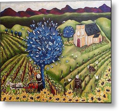 South Australia Vineyard Metal Print by Annakie Jordaan