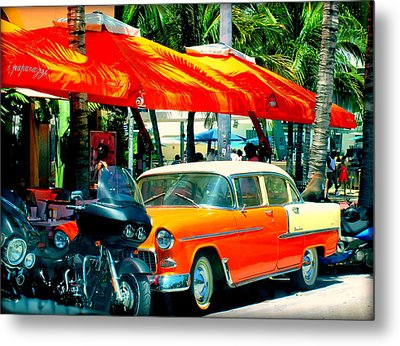 South Beach Flavour Metal Print by Karen Wiles