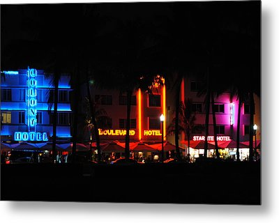 South Beach Hotels Metal Print