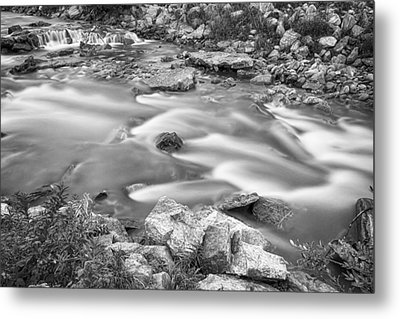 South Boulder Creek Little Waterfalls Rollinsville Bw Metal Print by James BO  Insogna