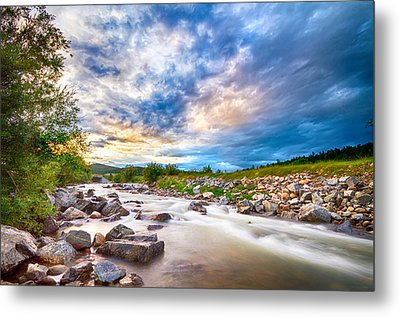 South Boulder Creek Sunset View Rollinsville Colorado Metal Print by James BO  Insogna