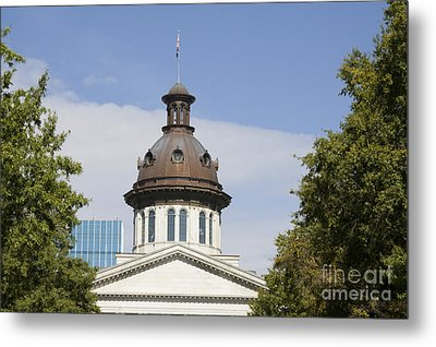 South Caroilna Capital Building Detail Metal Print
