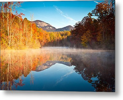 South Carolina Table Rock State Park Autumn Sunrise - Balance Metal Print