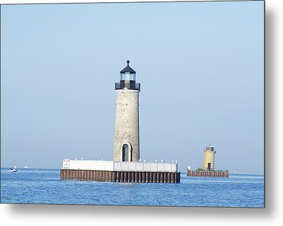 South Channel Lights Metal Print