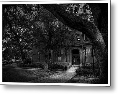 South Entry Black And White Metal Print by Marvin Spates