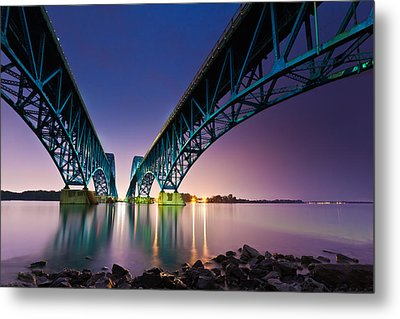 South Grand Island Bridge Metal Print by Mihai Andritoiu