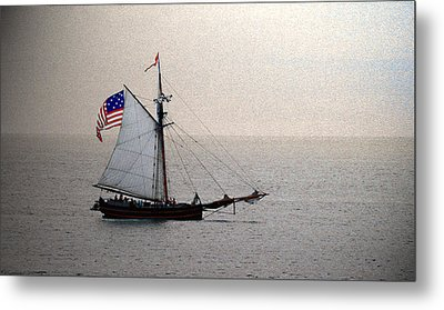 South Haven Sailing Metal Print by Penny Hunt