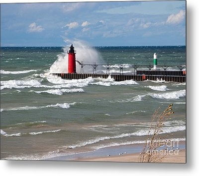 South Haven Splash Metal Print