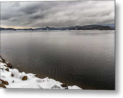 South Holston Snow Metal Print