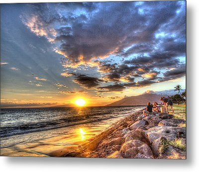 South Kihei Sunset Metal Print