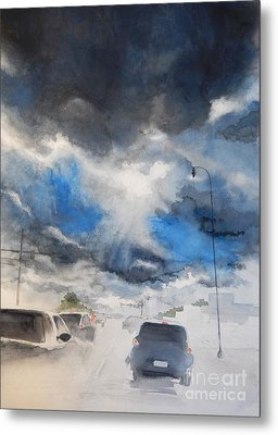 South Maple Road   Ann Arbor Michigan Metal Print by Yoshiko Mishina