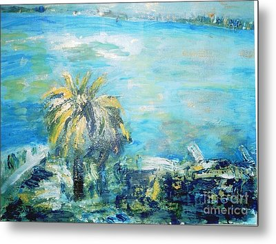 Metal Print featuring the painting South Of France    Juan Les Pins by Fereshteh Stoecklein