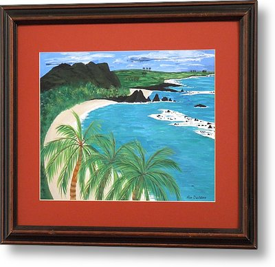 Metal Print featuring the painting South Pacific by Ron Davidson