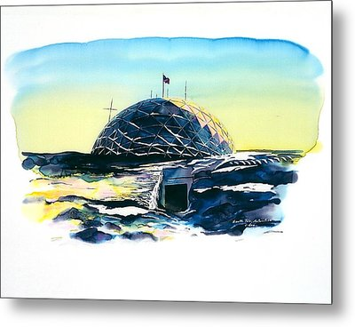South Pole Dome Antarctica Metal Print by Carolyn Doe