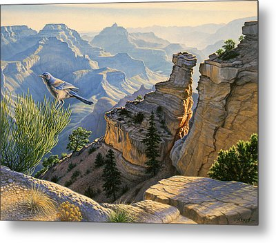 South Rim Morning Metal Print by Paul Krapf