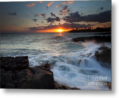 South Shore Waves Metal Print by Mike  Dawson