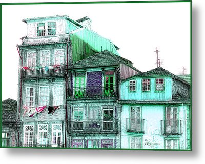 South Side Of Town-featured In Old Buildings And Ruins Group Metal Print