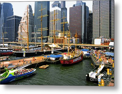 South Street Seaport -nyc Metal Print by Linda  Parker