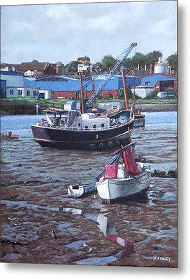 Southampton Northam Boats Metal Print by Martin Davey