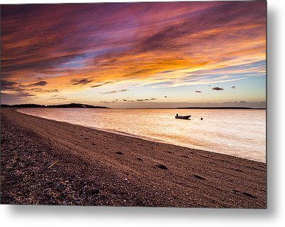 Southampton Shores Sunset Metal Print