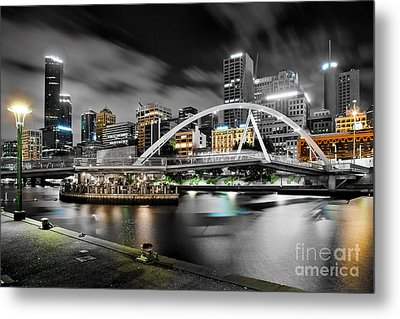 Southbank Footbridge Metal Print by Az Jackson