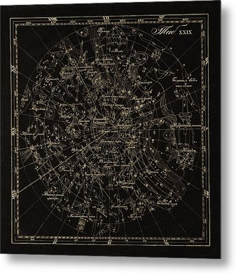 Southern Constellations, 1829 Metal Print by Science Photo Library