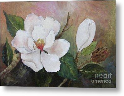 Southern Magnolias II By Barbara Haviland Metal Print