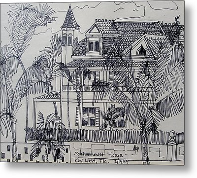 Southernmost House  Key West Florida Metal Print by Diane Pape