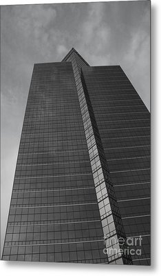 Southfield Hi Rise Black And White Metal Print by Bill Woodstock