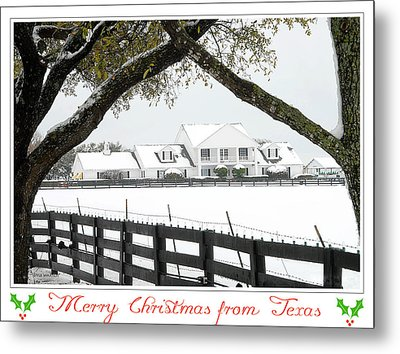 Southfork Christmas Metal Print by Dyle   Warren